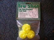 Tru Shot Practice Golf Balls 3 ct Yellow True Feel NEW