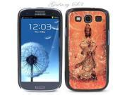 Black Snap-on S3 Phone Cover Case for Samsung Galaxy SIII Phone - HINDU GODDESS LOGO DESIGN. Height: 5.3 Inches X Width: 2.6 Inches X Thickness: 0.5 Inch.