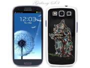 White Snap-on S3 Phone Cover Case for Samsung Galaxy SIII Phone - DANCING COUPLE DESIGN. Height: 5.3 Inches X Width: 2.6 Inches X Thickness: 0.5 Inch.
