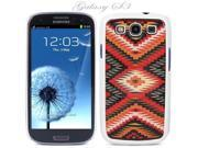 White Snap-on S3 Phone Cover Case for Samsung Galaxy SIII Phone - AZTEC MAYAN NATIVE PATTERN LOGO DESIGN. Height: 5.3 Inches X Width: 2.6 Inches X Thickness: 0.5 Inch.