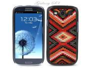 Black Snap-on S3 Phone Cover Case for Samsung Galaxy SIII Phone - AZTEC MAYAN NATIVE PATTERN LOGO DESIGN. Height: 5.3 Inches X Width: 2.6 Inches X Thickness: 0.5 Inch.