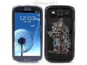 Black Snap-on S3 Phone Cover Case for Samsung Galaxy SIII Phone - DANCING COUPLE DESIGN. Height: 5.3 Inches X Width: 2.6 Inches X Thickness: 0.5 Inch.