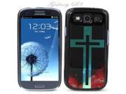 Black Snap-on S3 Phone Cover Case for Samsung Galaxy SIII Phone - RED GALAXY GREEN CROSS LOGO DESIGN. Height: 5.3 Inches X Width: 2.6 Inches X Thickness: 0.5 Inch.