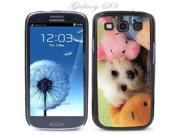 Black Snap-on S3 Phone Cover Case for Samsung Galaxy SIII Phone - CUTE MALTESE PUPPY LOGO DESIGN. Height: 5.3 Inches X Width: 2.6 Inches X Thickness: 0.5 Inch.