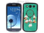 Black Snap-on S3 Phone Cover Case for Samsung Galaxy SIII Phone - INDIAN DREAMCATCHER LOGO DESIGN. Height: 5.3 Inches X Width: 2.6 Inches X Thickness: 0.5 Inch.