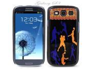 Black Snap-on S3 Phone Cover Case for Samsung Galaxy SIII Phone - BASKETBALL SHOTS2 LOGO DESIGN. Height: 5.3 Inches X Width: 2.6 Inches X Thickness: 0.5 Inch.