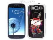 White Snap-on S3 Phone Cover Case for Samsung Galaxy SIII Phone - MR. SNOWMAN LOGO DESIGN. Height:5.3 Inches X Width: 2.6 Inches X Thickness: 0.5 Inch.