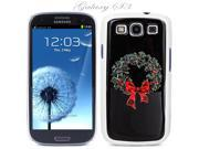 White Snap-on S3 Phone Cover Case for Samsung Galaxy SIII Phone - CHRISTMAS WREATH LOGO DESIGN. Height:5.3 Inches X Width: 2.6 Inches X Thickness: 0.5 Inch.