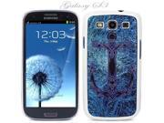 White Snap-on S3 Phone Cover Case for Samsung Galaxy SIII Phone - ANCHOR IN BLUE ABYSS LOGO DESIGN. Height: 5.3 Inches X Width: 2.6 Inches X Thickness: 0.5 Inch.
