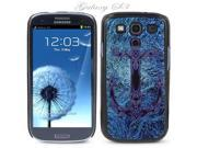 Black Snap-on S3 Phone Cover Case for Samsung Galaxy SIII Phone - ANCHOR IN BLUE ABYSS LOGO DESIGN. Height: 5.3 Inches X Width: 2.6 Inches X Thickness: 0.5 Inch.