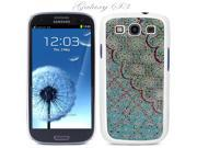 White Snap-on S3 Phone Cover Case for Samsung Galaxy SIII Phone - BLUE ROSE MOSAIC LOGO DESIGN. Height:5.3 Inches X Width: 2.6 Inches X Thickness: 0.5 Inch.