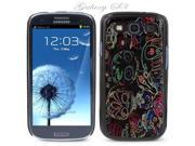 Black Snap-on S3 Phone Cover Case for Samsung Galaxy SIII Phone - SUGAR SKULL DRAWINGS LOGO DESIGN. Height: 5.3 Inches X Width: 2.6 Inches X Thickness: 0.5 Inch.