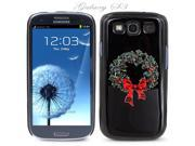 Black Snap-on S3 Phone Cover Case for Samsung Galaxy SIII Phone - CHRISTMAS WREATH LOGO DESIGN. Height: 5.3 Inches X Width: 2.6 Inches X Thickness: 0.5 Inch.