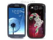Black Snap-on S3 Phone Cover Case for Samsung Galaxy SIII Phone - CANDY CANE LOGO DESIGN. Height: 5.3 Inches X Width: 2.6 Inches X Thickness: 0.5 Inch.