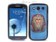 Black Snap-on S3 Phone Cover Case for Samsung Galaxy SIII Phone - EGYPTIAN PHARAOH DRAWING LOGO DESIGN. Height: 5.3 Inches X Width: 2.6 Inches X Thickness: 0.5 Inch.