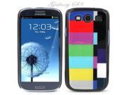 Black Snap-on S3 Phone Cover Case for Samsung Galaxy SIII Phone - COLOR TV BARS LOGO DESIGN. Height: 5.3 Inches X Width: 2.6 Inches X Thickness: 0.5 Inch.