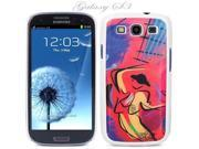 White Snap-on S3 Phone Cover Case for Samsung Galaxy SIII Phone - MATADOR LOGO DESIGN. Height: 5.3 Inches X Width: 2.6 Inches X Thickness: 0.5 Inch.