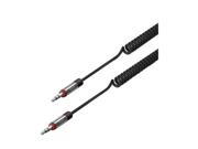 iLuv Black 6 ft. Premium Coiled Aux-in Audio Cable - ICB117BLK