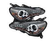 Scion FRS 12-14 Projector Headlights - CCFL Halo - DRL LED - Smoke