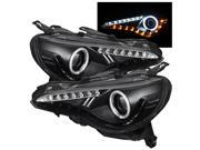 Subaru BRZ 12-14 Projector Headlights - CCFL Halo - DRL LED - Black