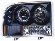 IPCW Projector Headlight CWS-500B2 00-05 Ford Excursion Black Housing / Clear Projector
