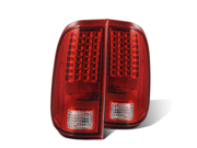 CG FORD F-250/SUPER DUTY 08-UP L.E.D TAILLIGHT RED/CLEAR 03-FD08TLED PAIR