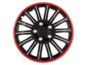 Pilot Cobra Black Chrome With Red Accent 15' Wheel Cover WH527-15RE-BX
