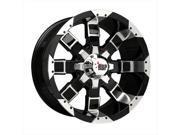 RBP 95R 20X10 8-6.50 ET ZERO BLK MACHINED W/BLK INSERTS 125MM CB Wheel