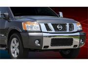 T-REX 2008-2012 Nissan Titan X-METAL Series - Studded Main Grille - ALL Black - 3 Pc - with Logo Opening BLACK 6717811