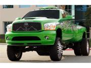 "T-REX 2006-2008 Dodge Ram PU URBAN ASSAULT ""GRUNT"" - Studded Main Grille w/ Soldier - Black OPS Flat Black - Custom 1 Pc Opening (Requires Cutting center Bars) FLAT BLACK 7114596"