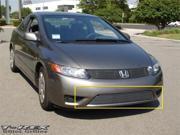 T-REX 2006-2008 Honda Civic (Coupe) Bumper Billet Grille Insert (11 Bars) POLISHED 25736