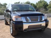 T-REX 2008-2012 Nissan Titan Billet Grille Overlay/Bolt On - 3 Pc - Logo Mounts on top of Billet POLISHED 21781