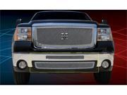 T-REX 2007-2010 GMC Sierra 2500HD, 3500 X-METAL Series - Studded Bumper Grille - Polished SS - 2 PC (Includes Top bumper mesh and air dam grille) POLISHED 6722060