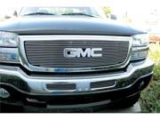T-REX 2003-2006 GMC Sierra (All Models except C3) Billet Grille Overlay/Bolt On - W/ Logo Opening (19 Bars) POLISHED 21200