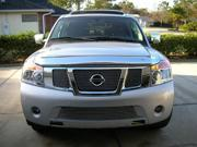 T-REX 2008-2012 Nissan Armada Billet Grille Overlay/Bolt On Insert - 3 Pc - W/ Logo Opening POLISHED 21784