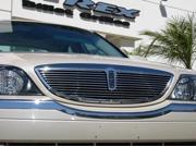 T-REX 2000-2002 Lincoln LS Billet Grille Insert - w/Lower Billet Molding (11 Bars) POLISHED 20710