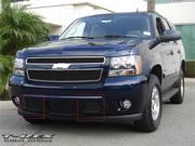 T-REX 2007-2012 Chevrolet Tahoe, Suburban, Avalanche (Except Z71) Bumper Billet Grille - Remove Tow Hooks - 2 Pc (11 Bars) - All Black BLACK 25051B