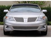T-REX 2009-2011 Lincoln MKS Upper Class Polished Stainless Mesh Grille - With Formed Mesh Center - 2 Pc POLISHED 54718