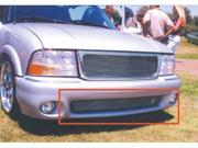 T-REX 1998-2000 GMC Envoy Bumper Billet Grille Insert (9 Bars) - Fits Envoy Bumper Only POLISHED 25377