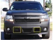 T-REX 2007-2012 Chevrolet Tahoe, Suburban, Avalanche (Except Z71) Upper Class Bumper Mesh Grille - All Black - 2 Pc kit covers tow hook openings BLACK 52051