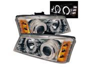 Spyder Auto Chevy Silverado 1500/2500/3500 03-06 Halo LED ( Replaceable LEDs ) Projector Headlights - Chrome PRO-YD-CS03-AM-C