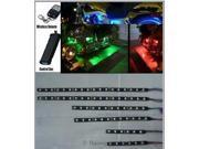 Race Sport RGB Multi Color Motorcycle 6-Strip LED kit w/ Remote RS-6-MOTO-RGB