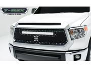 """T-Rex TORCH Series LED Light Grille,1 - 30"""" LED Bar, Formed Mesh, Main Grille, Replacement, 1 Pc, Black Powdercoated Mild Steel (For off-road use only) 6319641"""