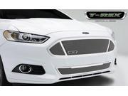 T-Rex Upper Class, Formed Mesh Grille, Main with 3 windows, Replacement, 1 Pc, Polished Stainless Steel 54531