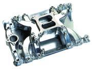 Professional Products Crosswind Intake Manifold&#59; 1500-6500 RPM Range&#59; Not For Sale/Use On Pollution Controlled Vehicles&#59; For Fuel Injection Applications&#59; Polished Finish&#59; 57027