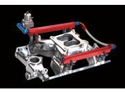 Professional Products Powerflow Complete Fuel Rail Kit&#59; Incl. Fuel Rails/Fuel Pressure Regulator/Crossover Hose/Mounting Brackets/AN Adapter Fittings/Hardware&#59; For PN[56027/56028&#59; 10618
