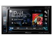 "Pioneer DDIN DVD Receiver with 6.2"" Display Bluetooth Siri Eyes Free SiriusXM-Ready HD Radio AVHX3700BHS"
