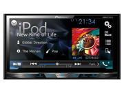 "Pioneer DDIN DVD Receiver with 7"" Motorized Display Bluetooth Siri Eyes Free SiriusXM-Ready AVHX4700BS"