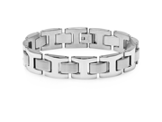 "Oxford Ivy Men's 8.5"" Solid Stainless Steel Chain Link Bracelet"