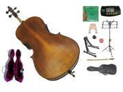 Crystalcello MC650 4/4 Size Antique Style Flamed Orchestra Cello